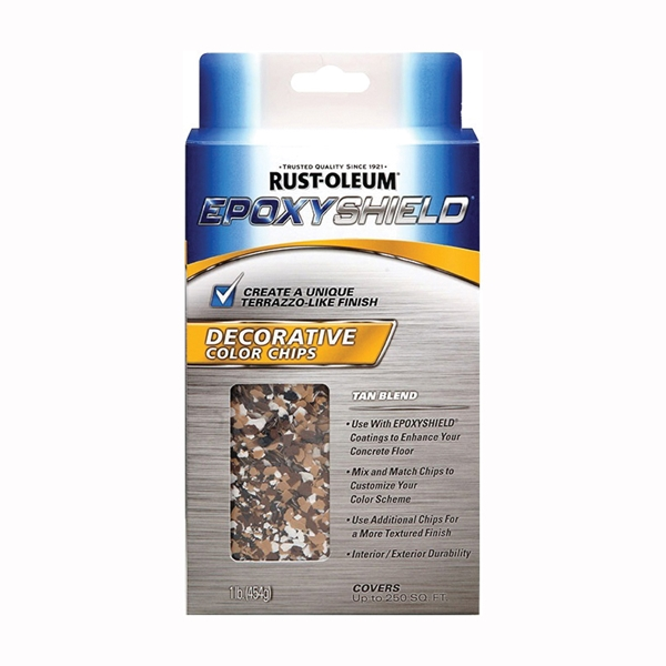 Picture of RUST-OLEUM EPOXYSHIELD 312447 Color Chips, Particulate Solid, Tan Blend, 1 lb Package, Bag