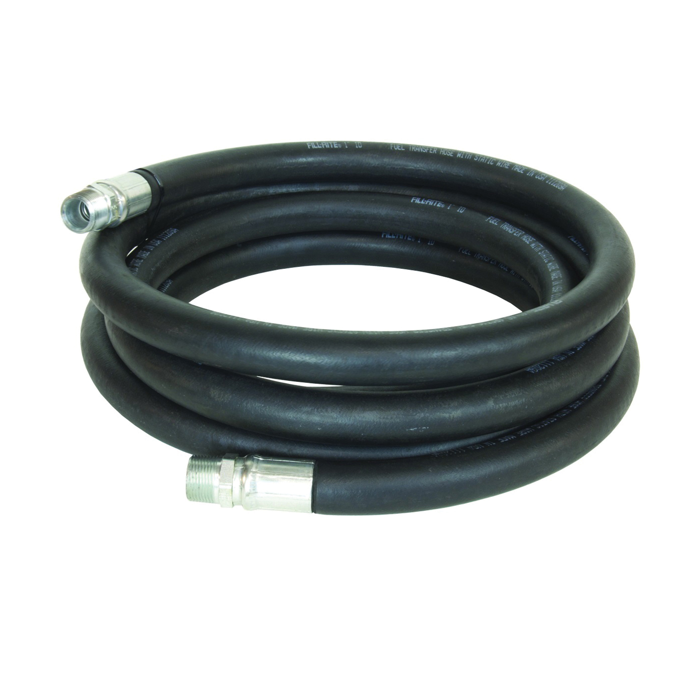 Picture of Fill-Rite FRH10020 Fuel Transfer Hose Male, 20 ft L, Male, Neoprene, Black