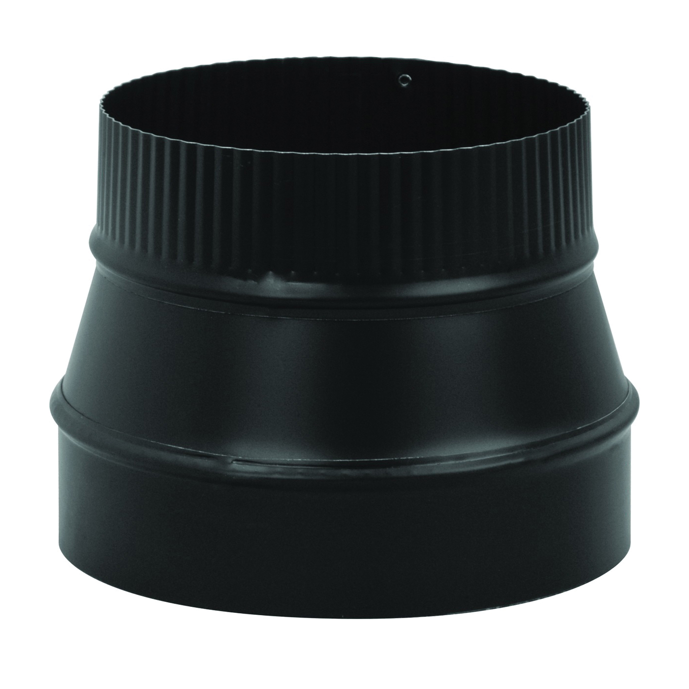 Picture of Imperial BM0074 Stove Pipe Reducer, 6 x 4 in, Crimp, 24 ga Thick Wall, Black, Matte