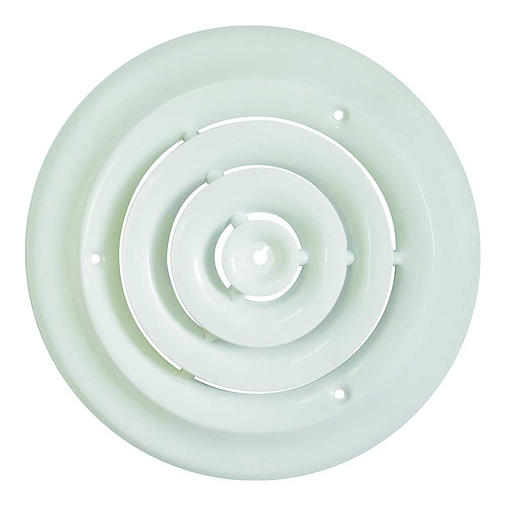Picture of ProSource SRSD08 Round Ceiling Diffuser, 8 in W, White