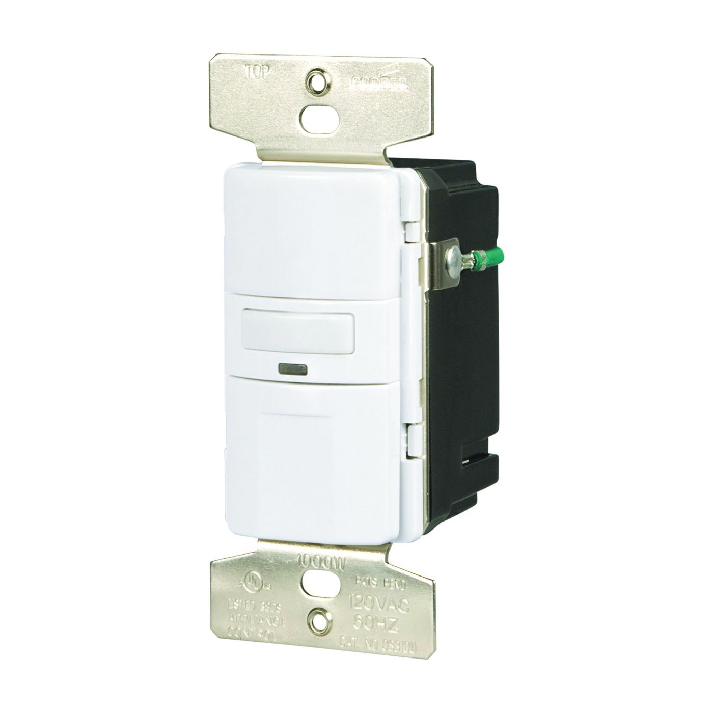 Picture of Eaton Wiring Devices OS310U-W-K Motion Sensor Switch with Nightlight and LED, 8.3 A, 120 V, 1-Pole, Motion Sensor