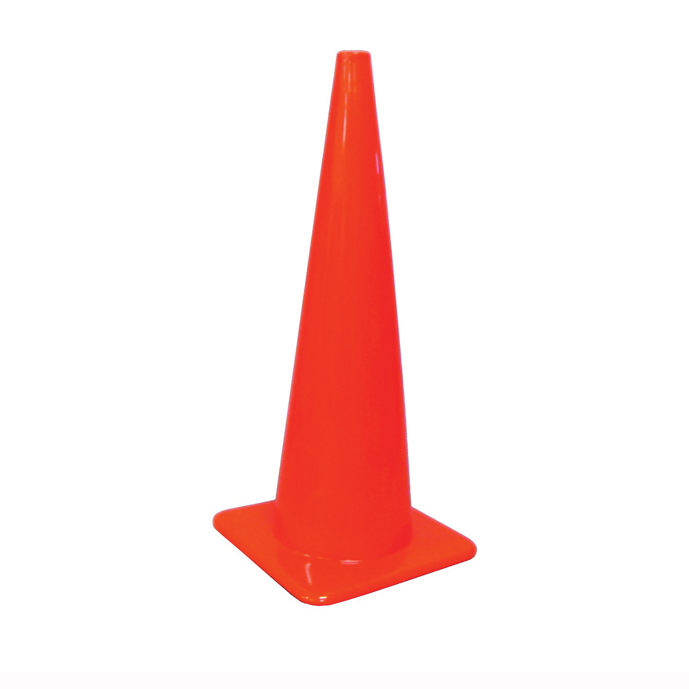 Picture of HY-KO SC-36 Traffic Safety Cone, 36 in H Cone, Vinyl Cone, Fluorescent Orange Cone