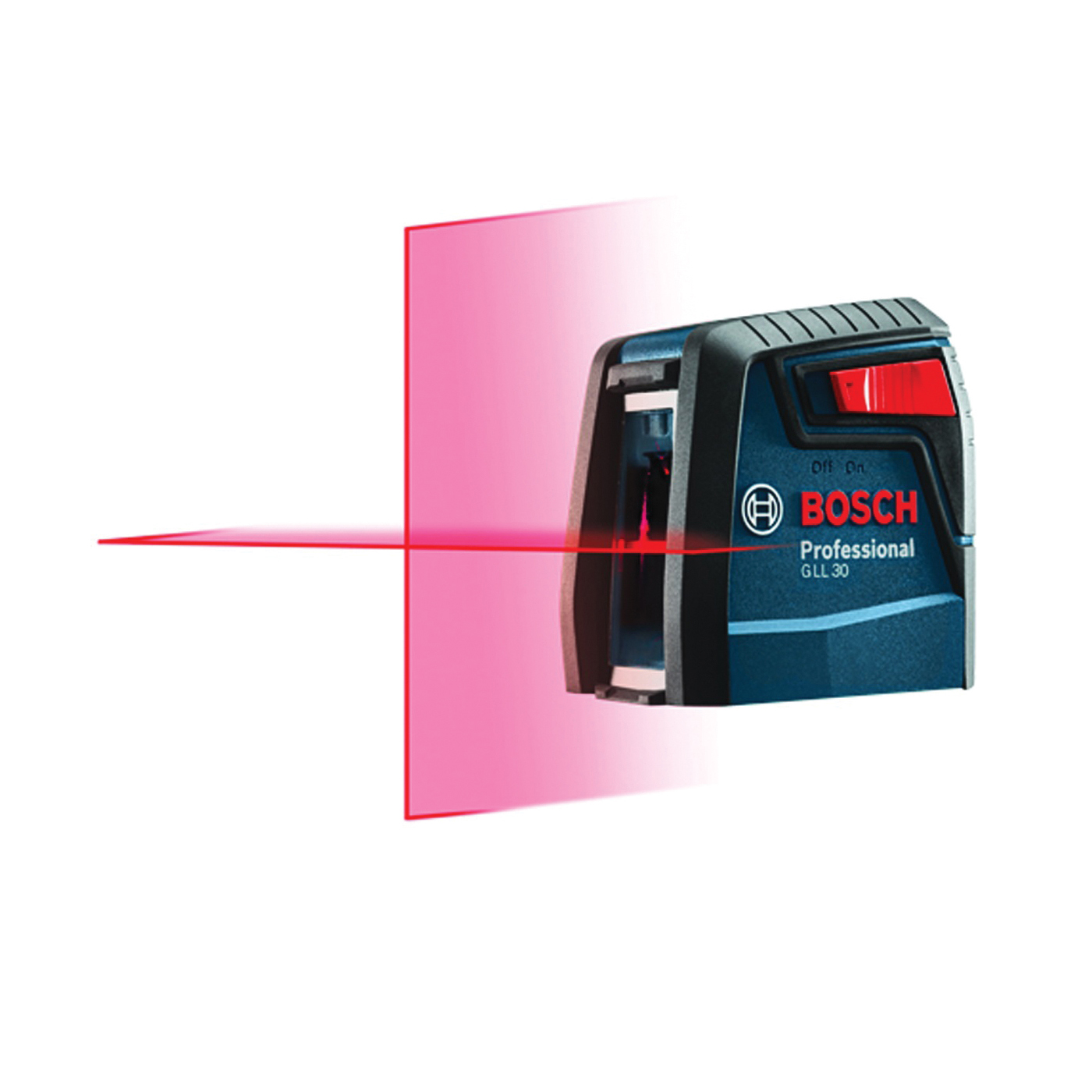 Picture of Bosch GLL 30 Cross-Line Laser, 30 ft, +/-5/16 in at 30 ft Accuracy, 2 -Line