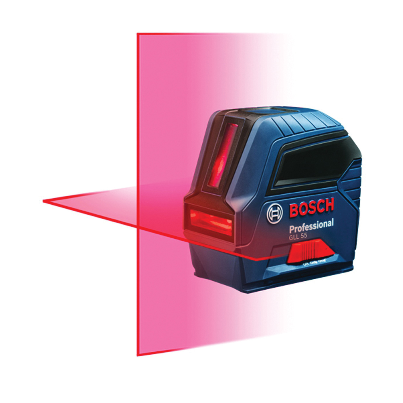 Picture of Bosch GLL 55 Cross-Line Laser, 50 ft, +/-1/8 in at 33 ft Accuracy, 2 -Line
