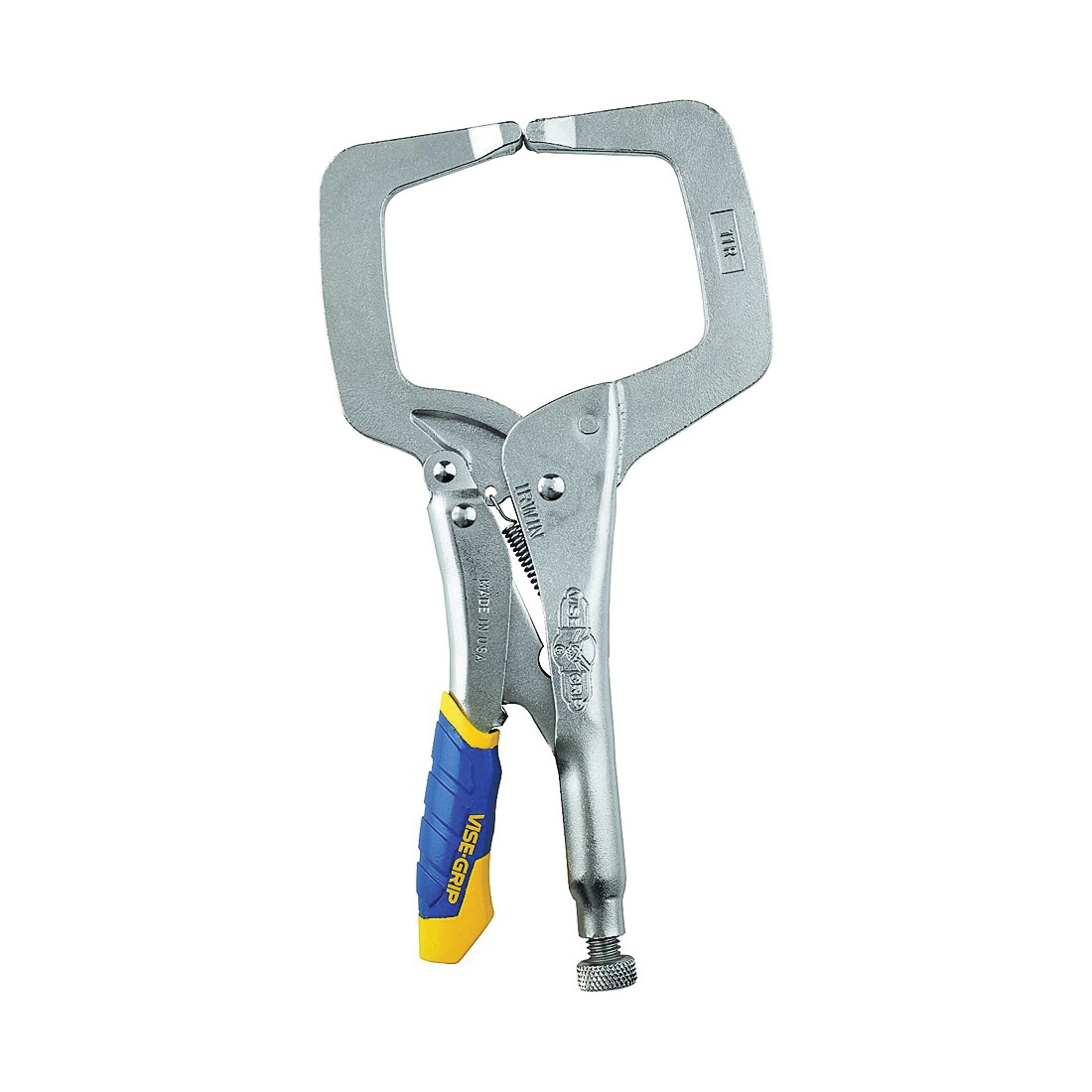 Picture of IRWIN 19T C-Clamp, 2500 lb Clamping, 3-3/8 in Max Opening Size, 2-5/8 in D Throat, Steel Body