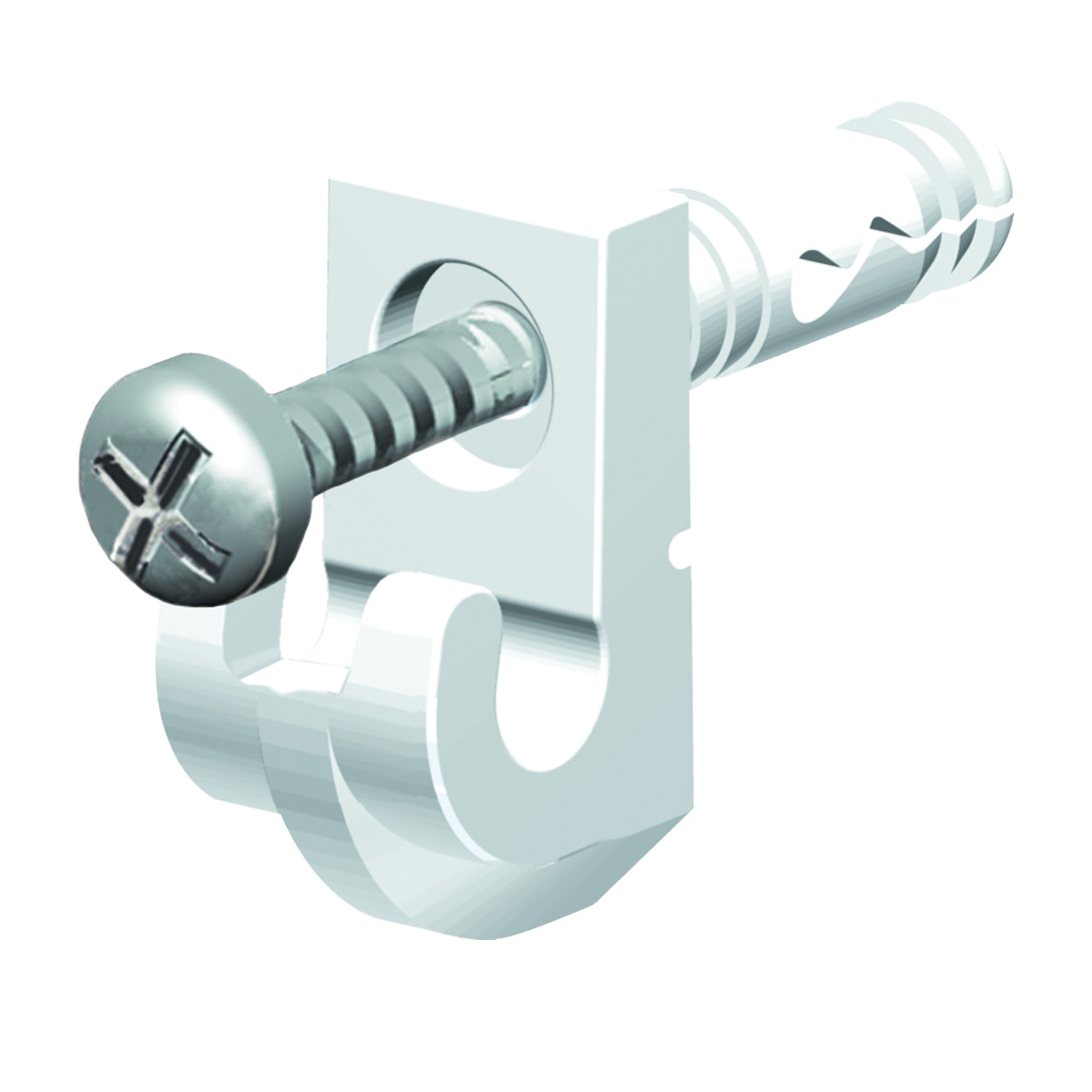 Picture of ClosetMaid 71927 Wall Clip, Resin, White, 14, Wall Mounting