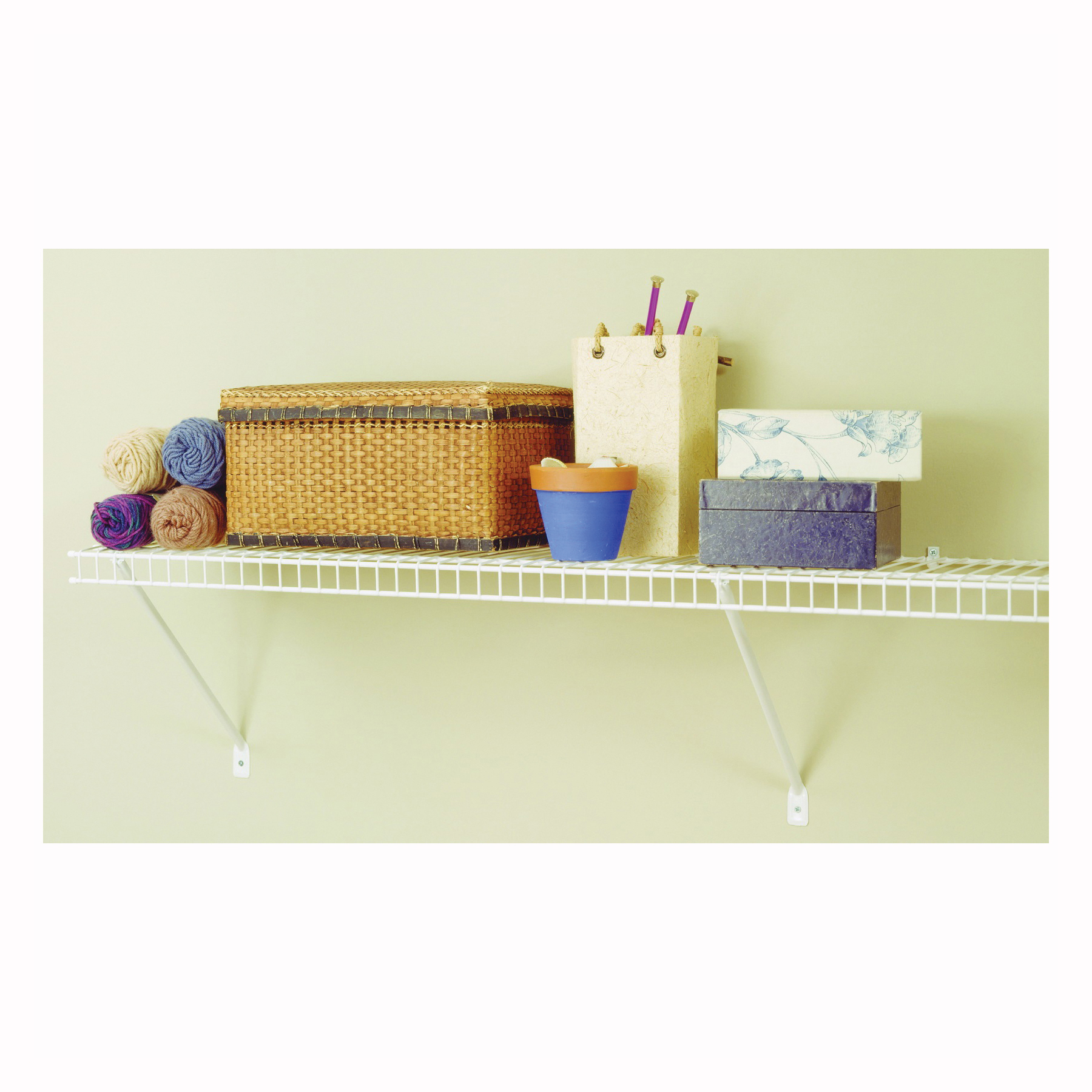 Picture of ClosetMaid 1061 Shelf Kit, 72 in L, 12 in W, Steel, White