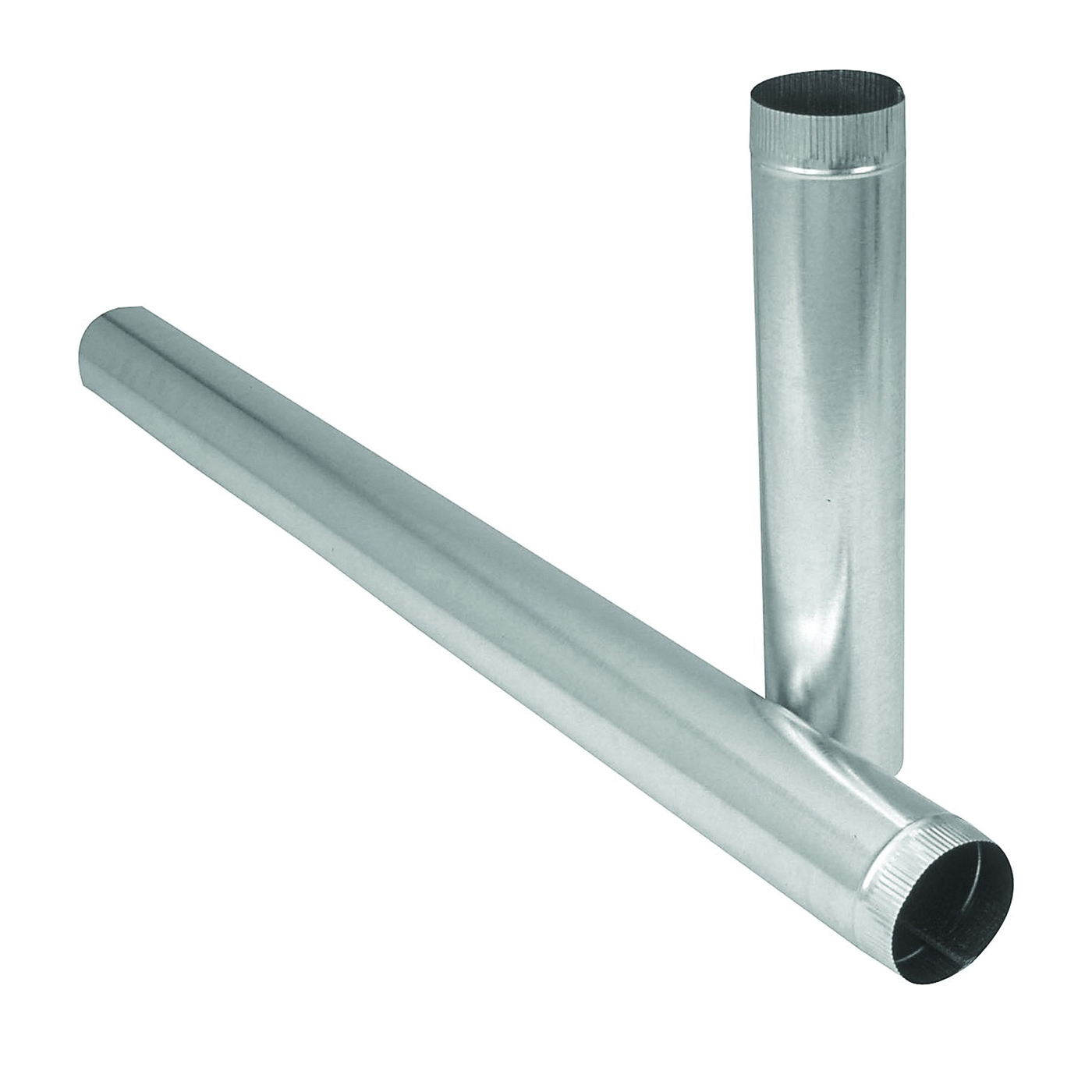 Picture of Imperial GV1753 Duct Pipe, 6 in Dia, 12 in L, 26 Gauge, Galvanized Steel, Galvanized