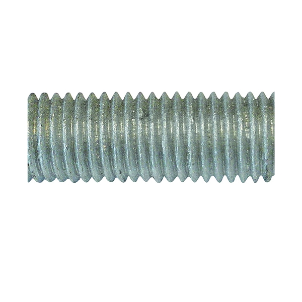 Picture of PFC 770063-BR Threaded Rod, 5/8-11 in Thread, 6 ft L, A Grade, Carbon Steel, Galvanized, NC Thread