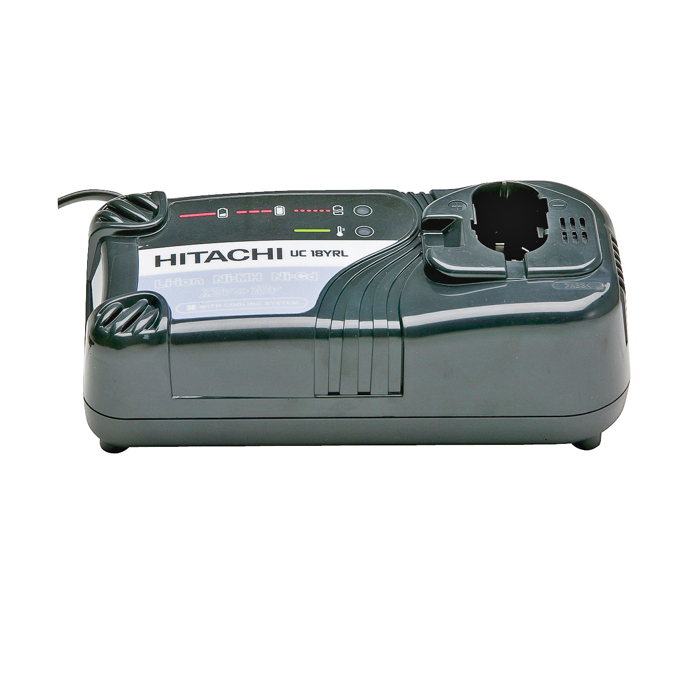 Picture of Metabo HPT UC18YRLM Battery Charger, 7.2 to 18 V Output, 45 min Charge, 3 -Battery, Battery Included: No