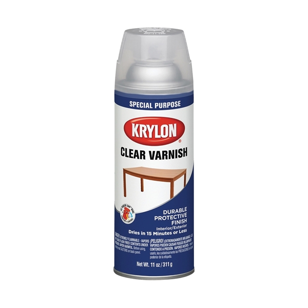Picture of Krylon K07001007 Varnish Coating, Gloss, Clear, Liquid, 11 oz, Aerosol Can