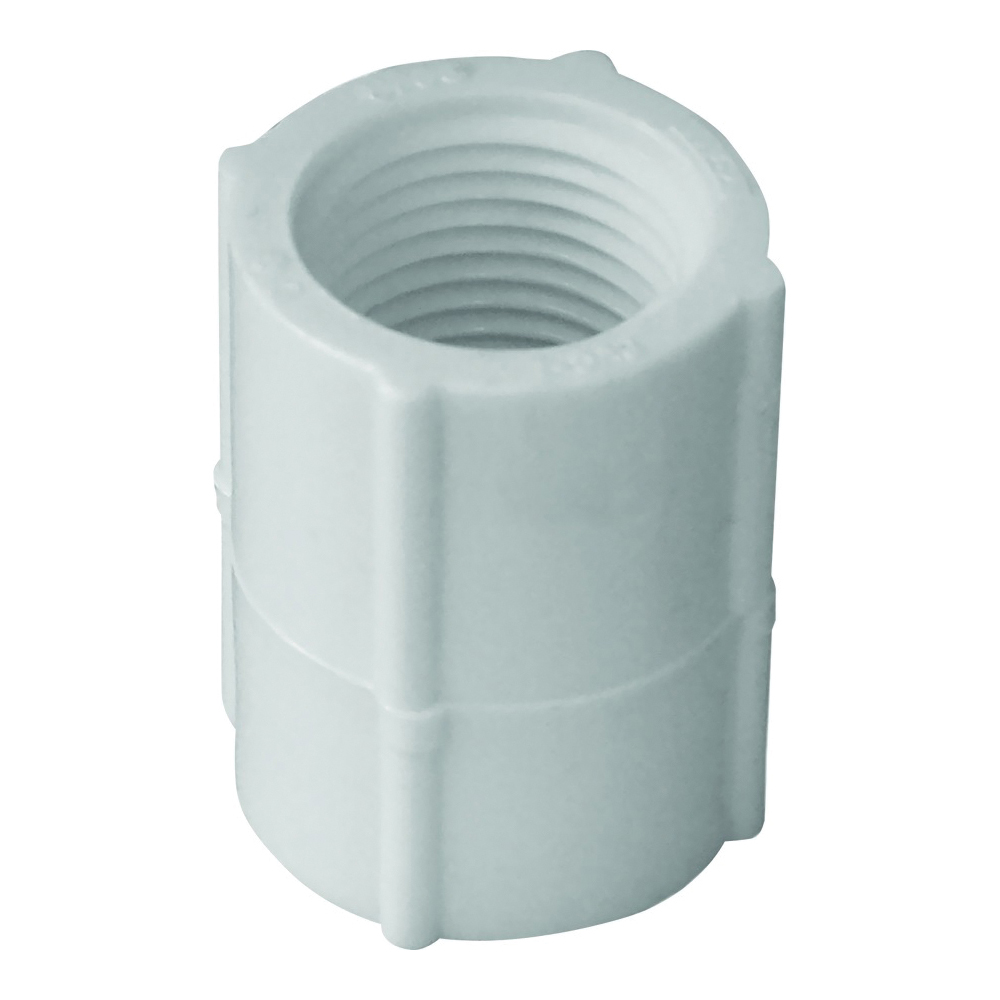 Picture of GENOVA 300 Series 30128 Pipe Coupler, 1 in, FIP, White, SCH 40 Schedule, 450 psi Pressure