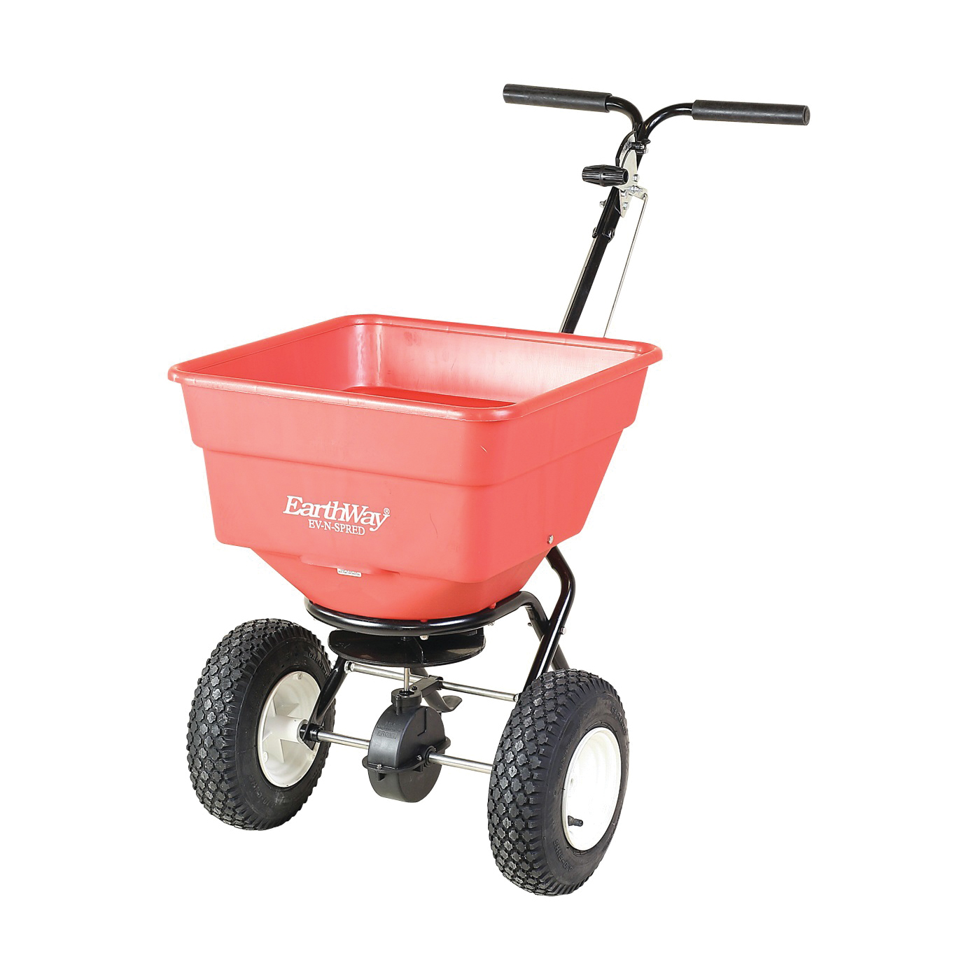 Picture of EarthWay 2170SU Broadcast Spreader, 3350 cu-in Coverage Area, 100 lb Capacity, Poly Hopper, Stud Wheel