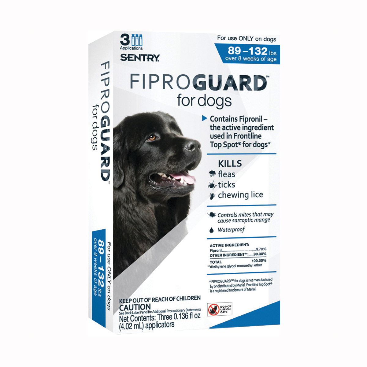 Picture of SENTRY Fiproguard 02953 Flea and Tick Squeeze-On, Liquid, 3 Count Package
