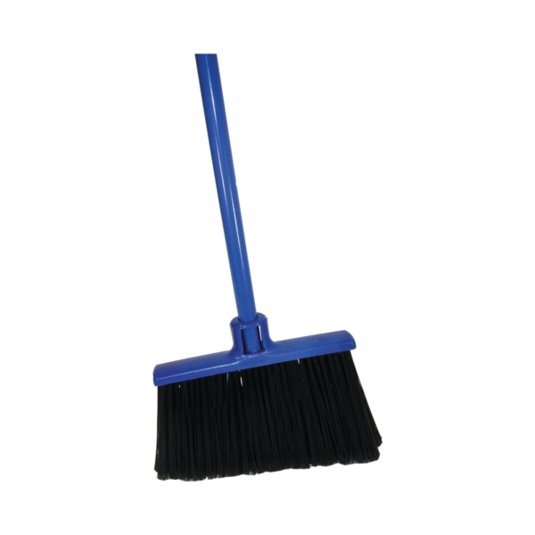 Picture of Quickie 735TRI Advant-Edge Broom, 14 in Sweep Face, Polypropylene Bristle, Steel Handle