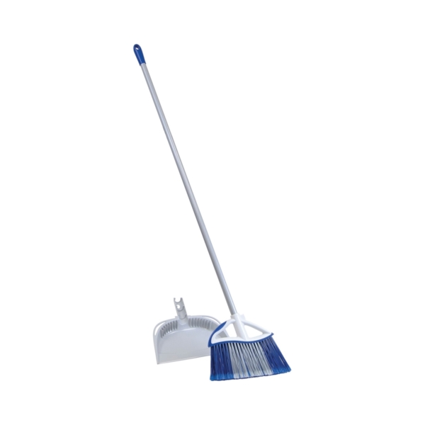 Picture of Quickie 72750-72409 Angle Broom, 11-1/2 in Sweep Face, Twin Sweep Fiber Bristle, Steel Handle