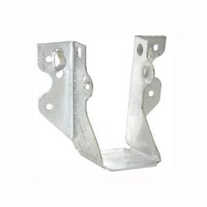 Picture of MiTek JUS28-3TZ Slant Joist Hanger, 6-3/8 in H, 2 in D, 4-5/8 in W, 2 in L x 8 to 10 in H, Steel, Zinc