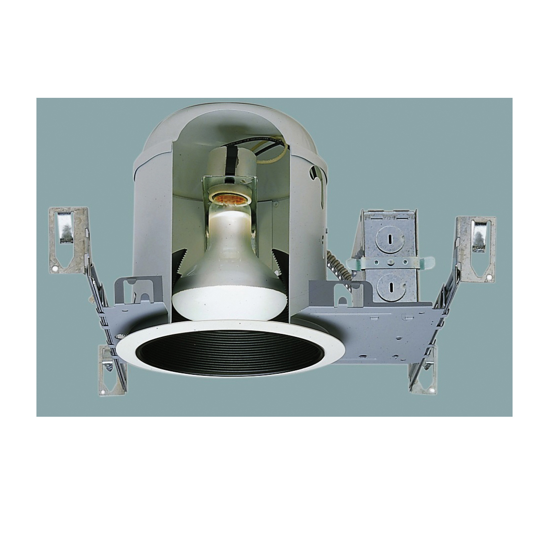 Picture of Halo H7T Recessed Housing, 6 in Dia Recessed Can, Steel, White