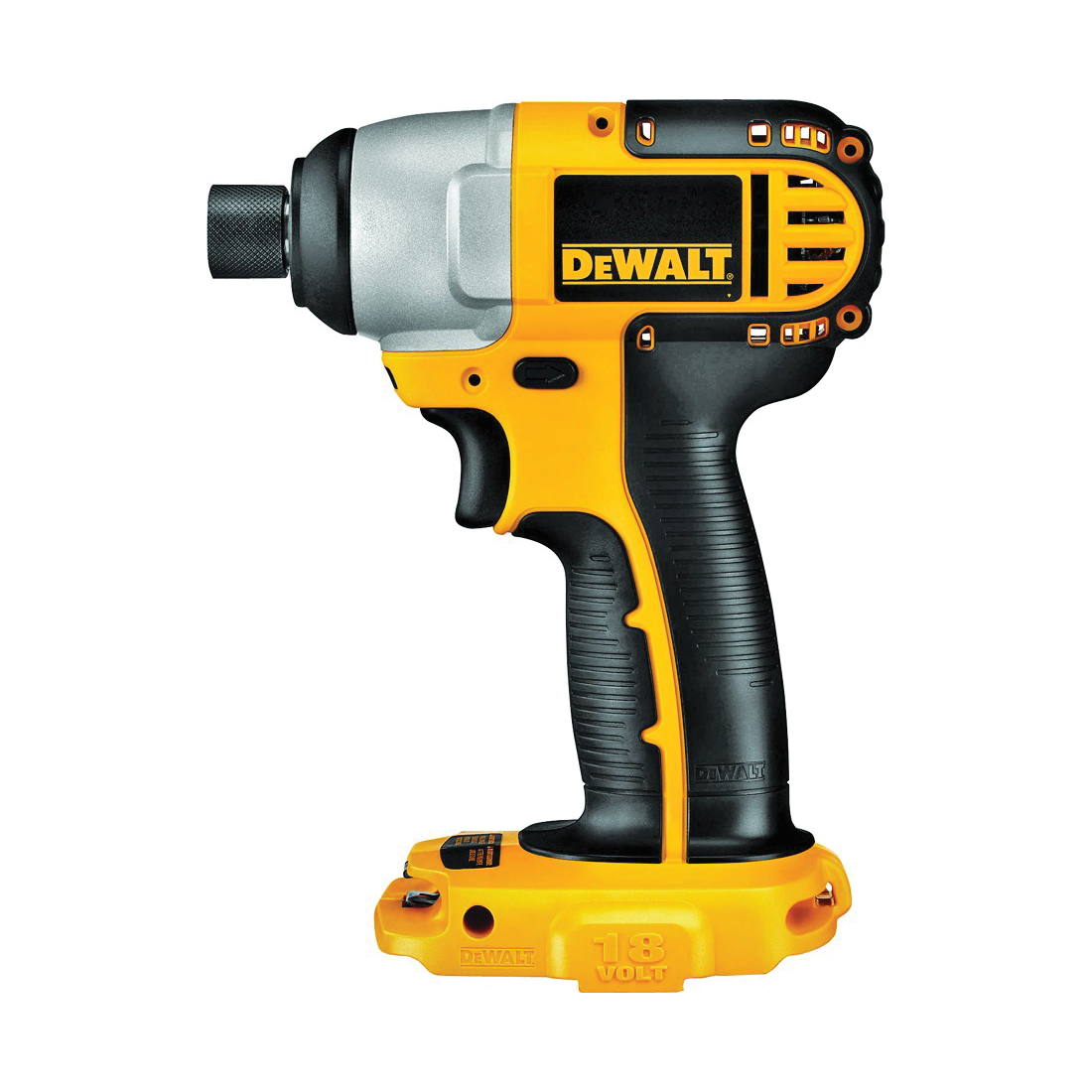 Picture of DeWALT DC825B Impact Driver, Bare Tool, 18 V Battery, 2.4 Ah, 1/4 in Drive, Hex Drive, 2700 ipm IPM