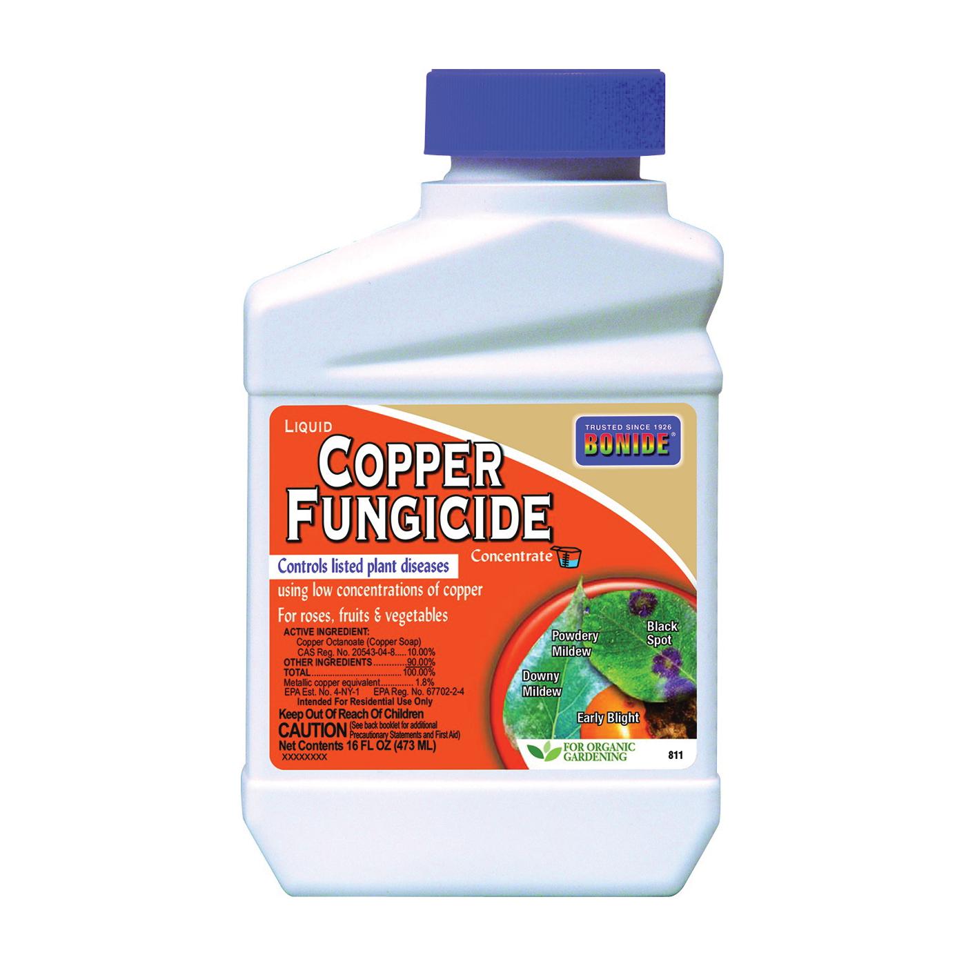 Picture of Bonide 811 Copper Fungicide, Liquid, Acidic, Blue, 1 pt Package