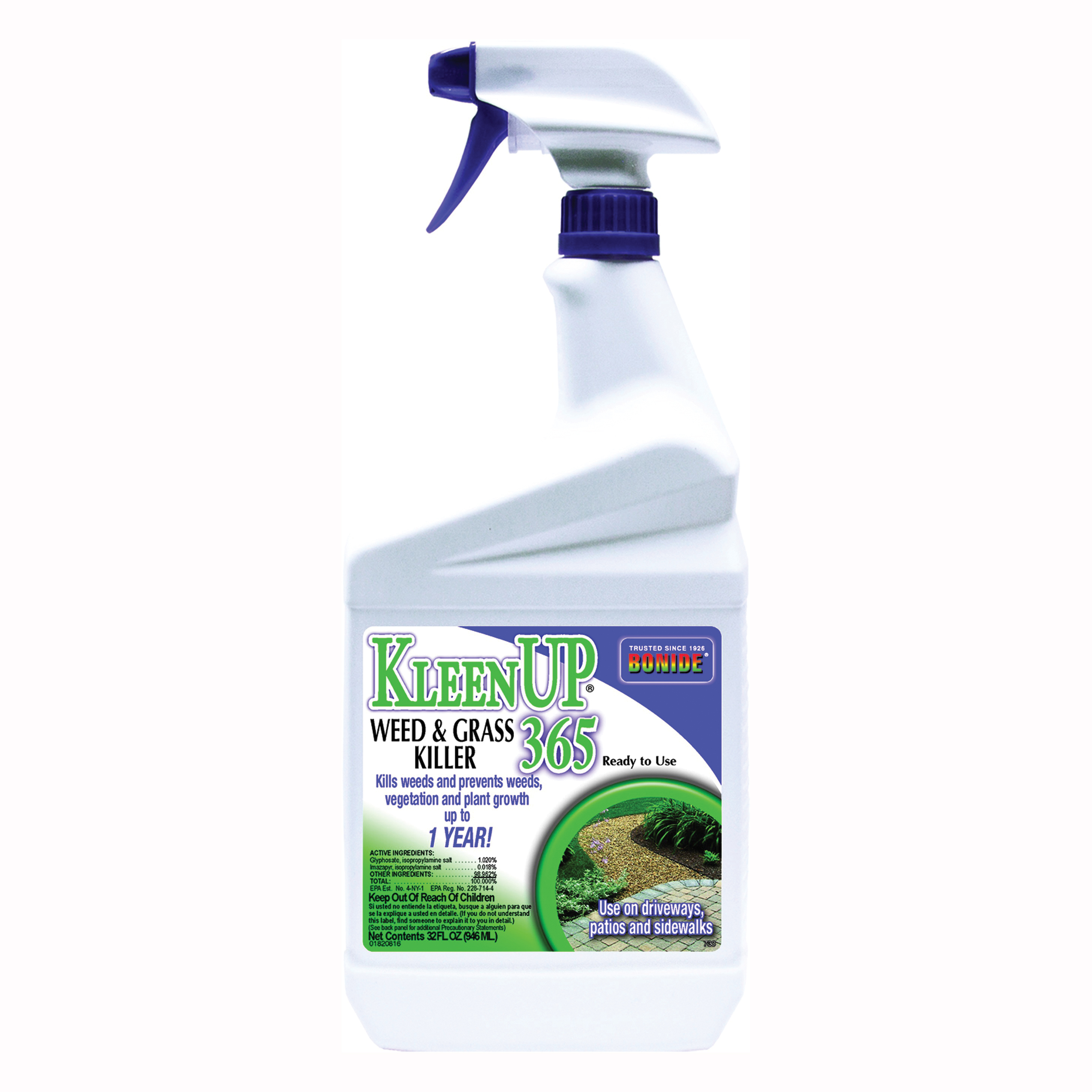Picture of Bonide 730 Weed and Grass Killer, Liquid, Brown/Tan, 1 qt Package, Bottle