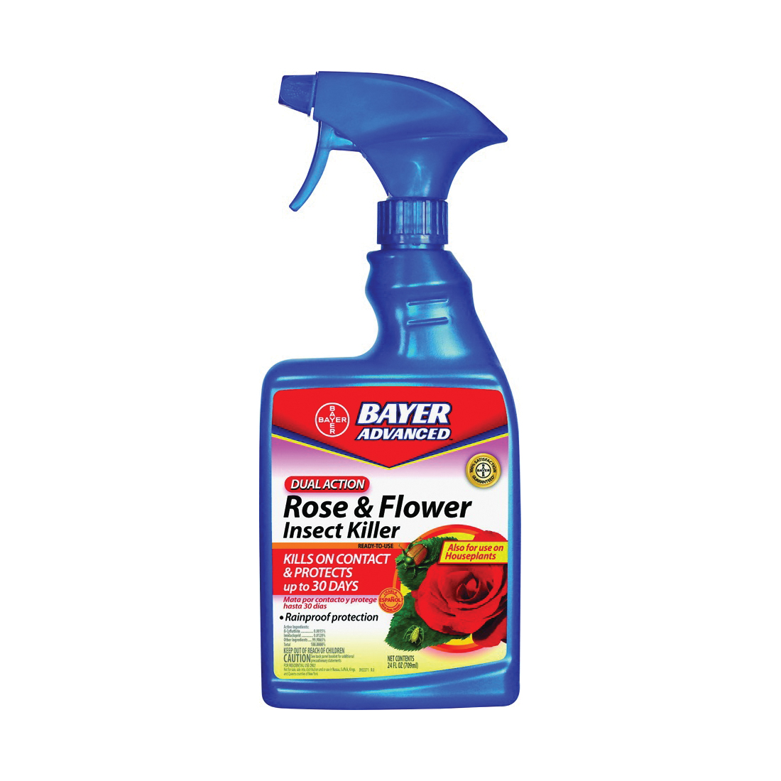Picture of BioAdvanced 502570B Rose and Flower Insect Killer, Liquid, Spray Application, 24 oz Package