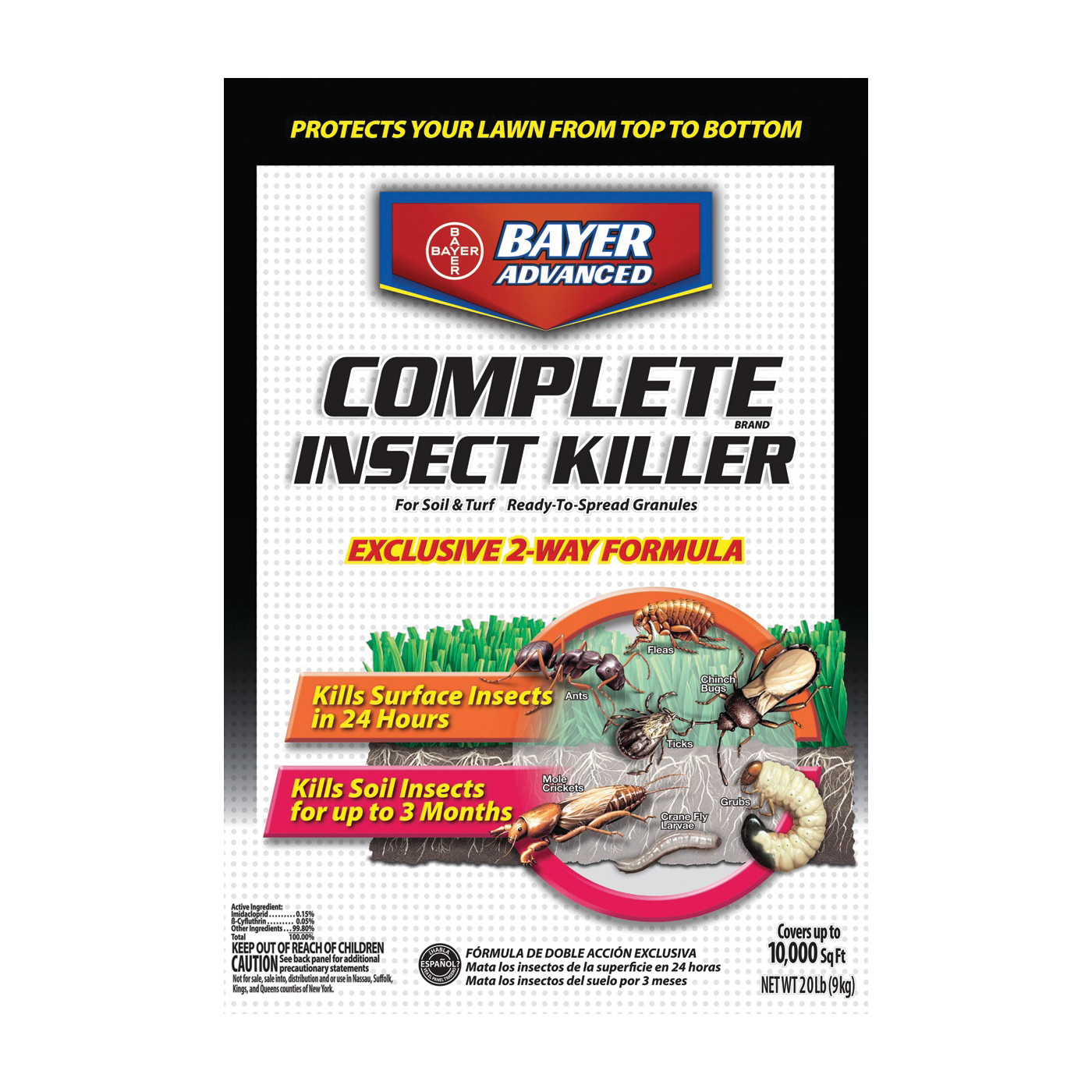 Picture of BioAdvanced 700289T Insect Killer, Granular, Sprinkle Application, 20 lb Package, Bag
