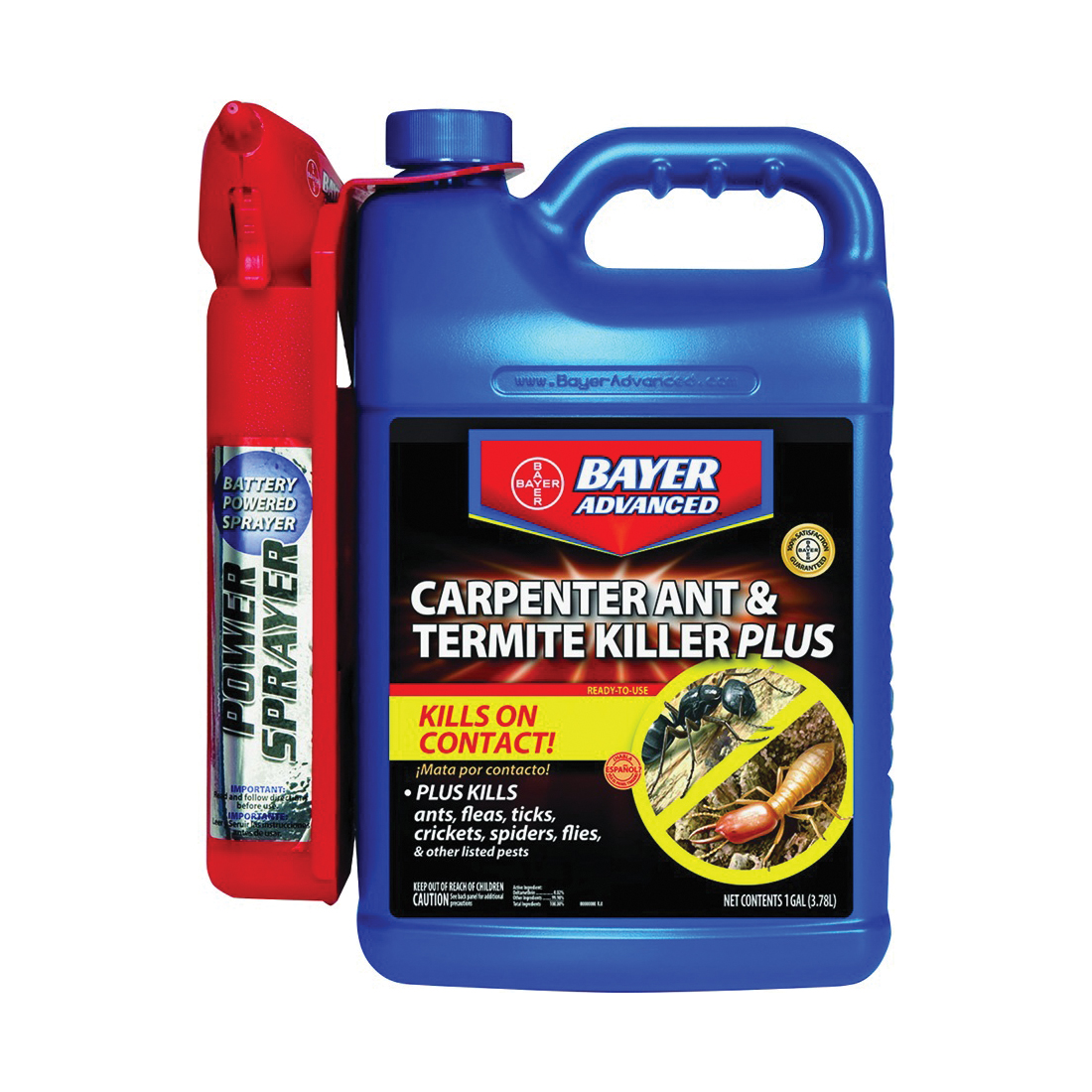 Picture of BioAdvanced 700335A Ant and Termite Killer, Liquid, Brush, Spray Application, 1.3 gal Package, Can