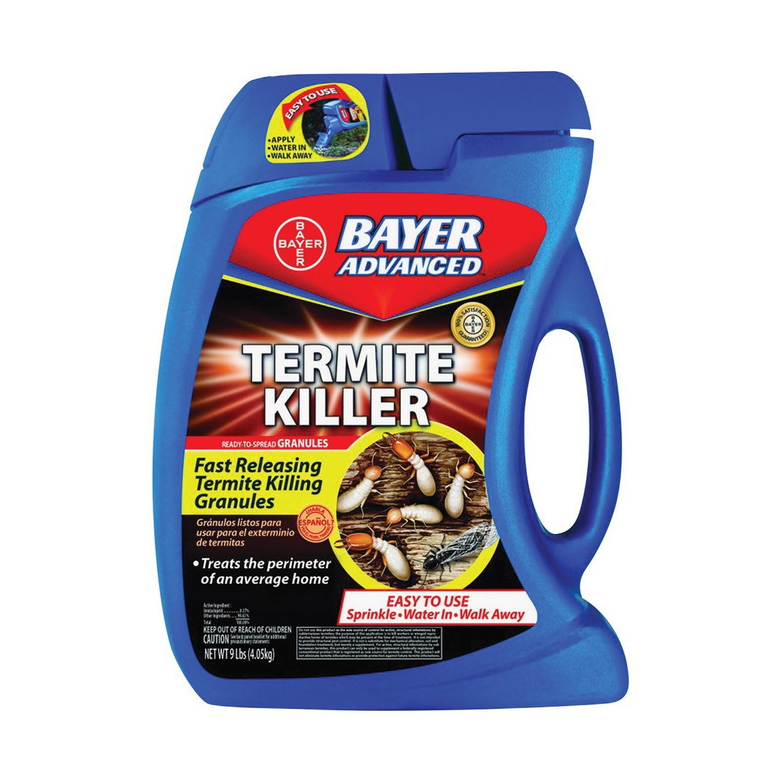 Picture of BayerAdvanced 700350A Termite Killer, Granular, Sprinkle Application, 9 lb Package, Container