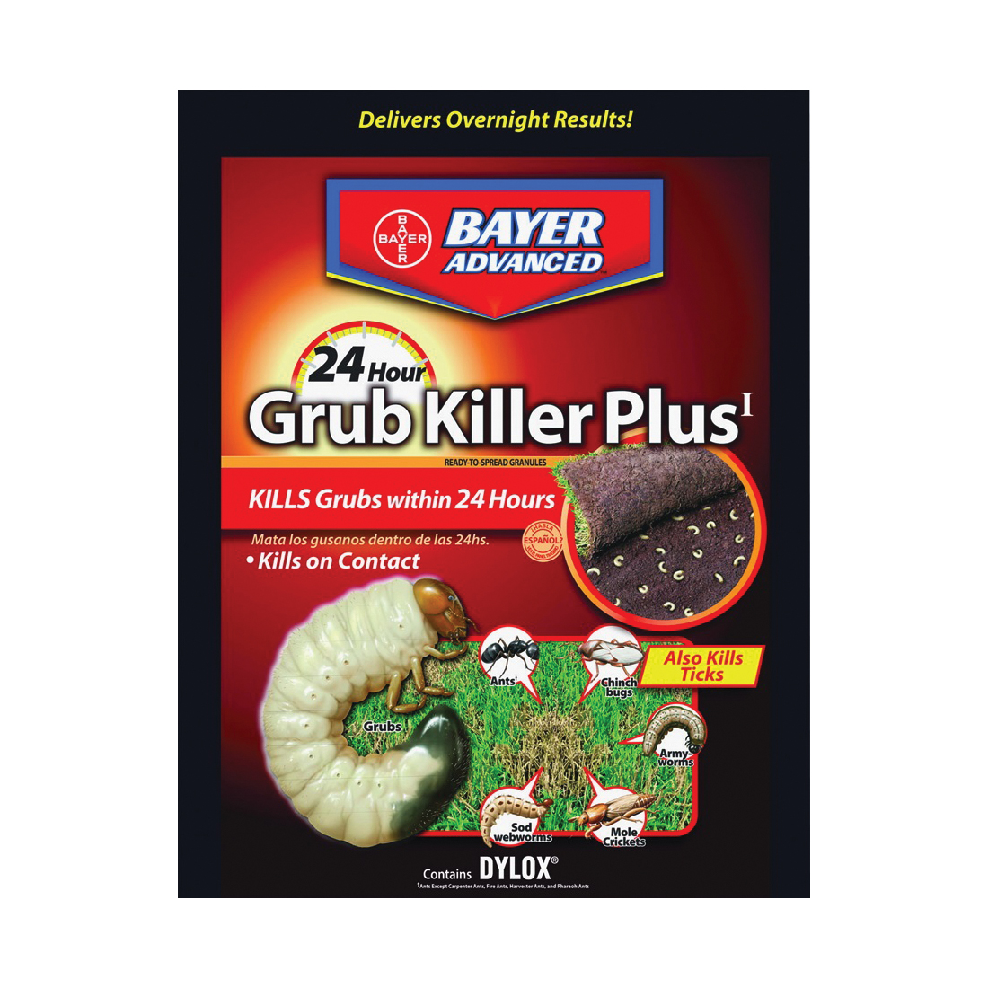 Picture of BioAdvanced 700745S Grub Killer, Granular, Spreader Application, 20 lb Package, Bag