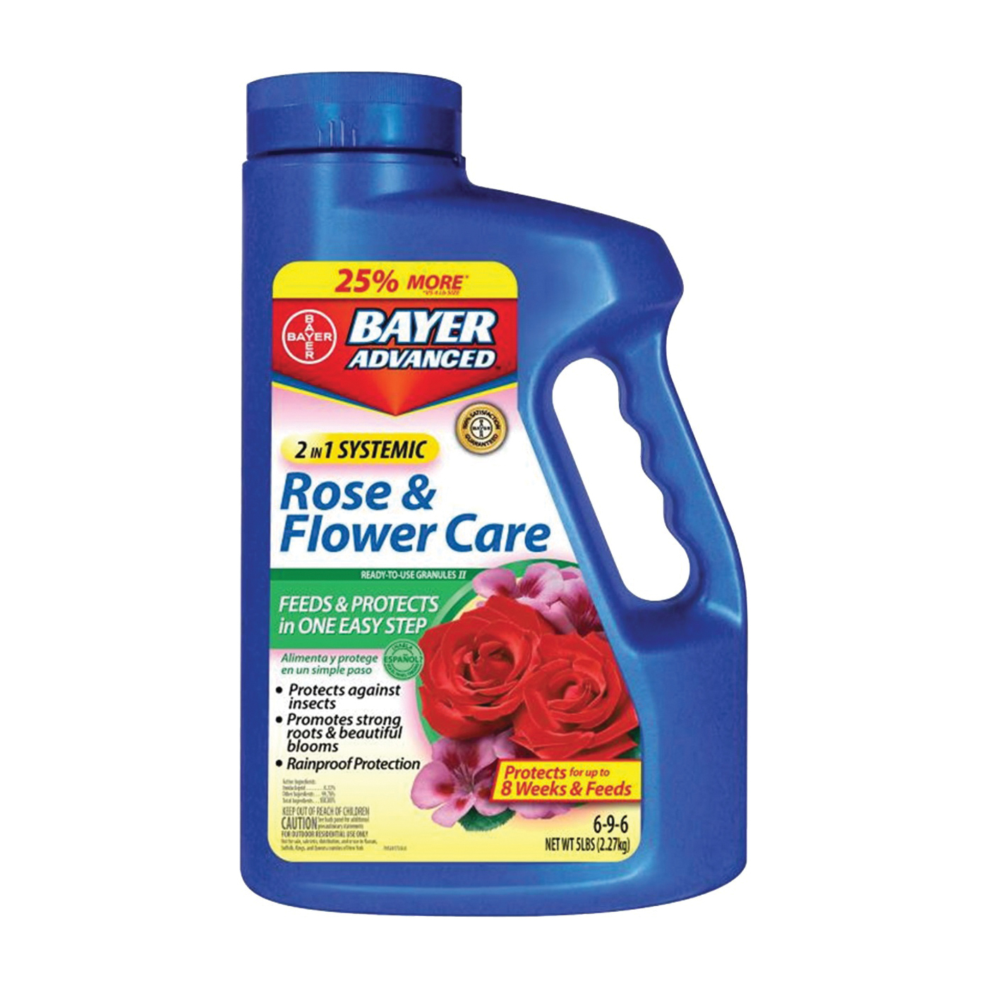 Picture of BioAdvanced 701100A Rose and Flower Care, Granular, 5 lb Package, Bottle
