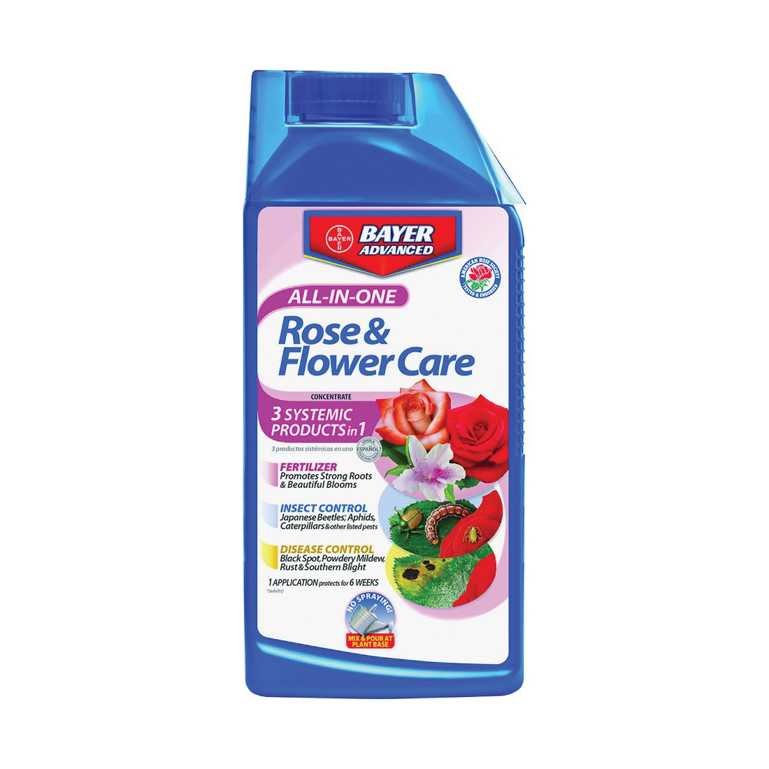 Picture of BioAdvanced 701260B Rose/Flower Care, Liquid, Spray Application, 32 oz Package, Bottle