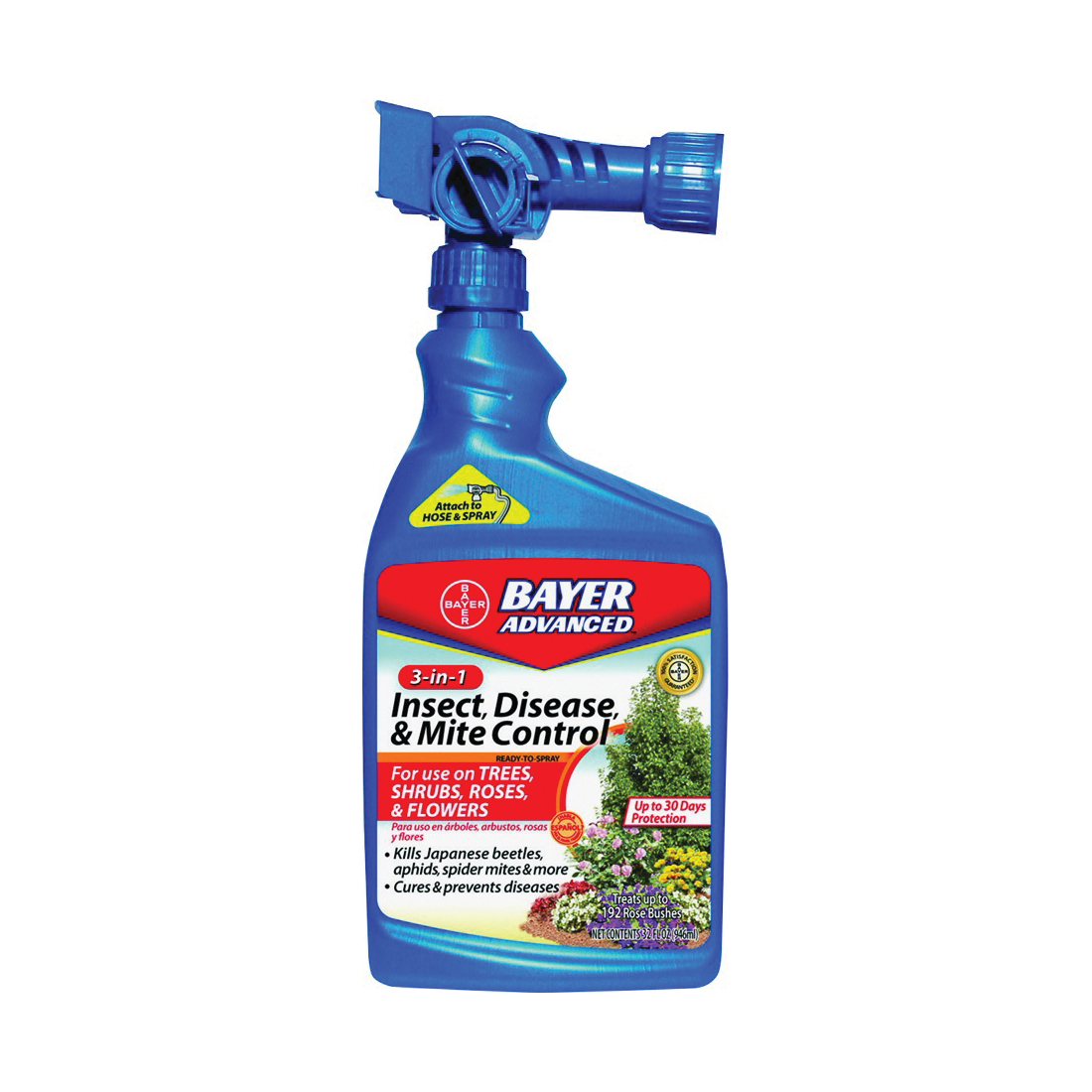 Picture of BioAdvanced 708287A Insect/Disease/Mite Control, Liquid, 32 oz Package