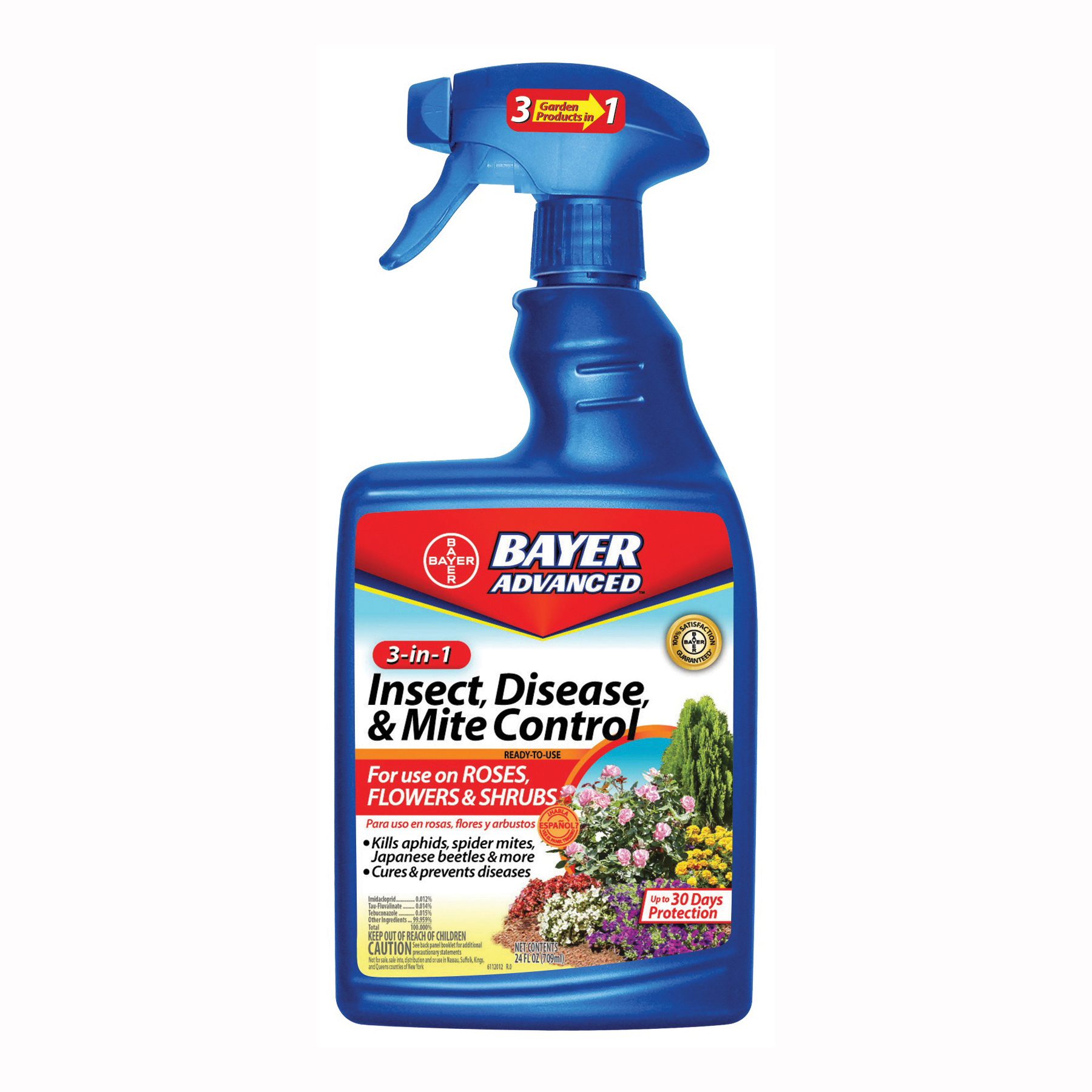 Picture of BioAdvanced 701290B Insect/Disease/Mite Control, Liquid, Spray Application, 24 oz Package, Can