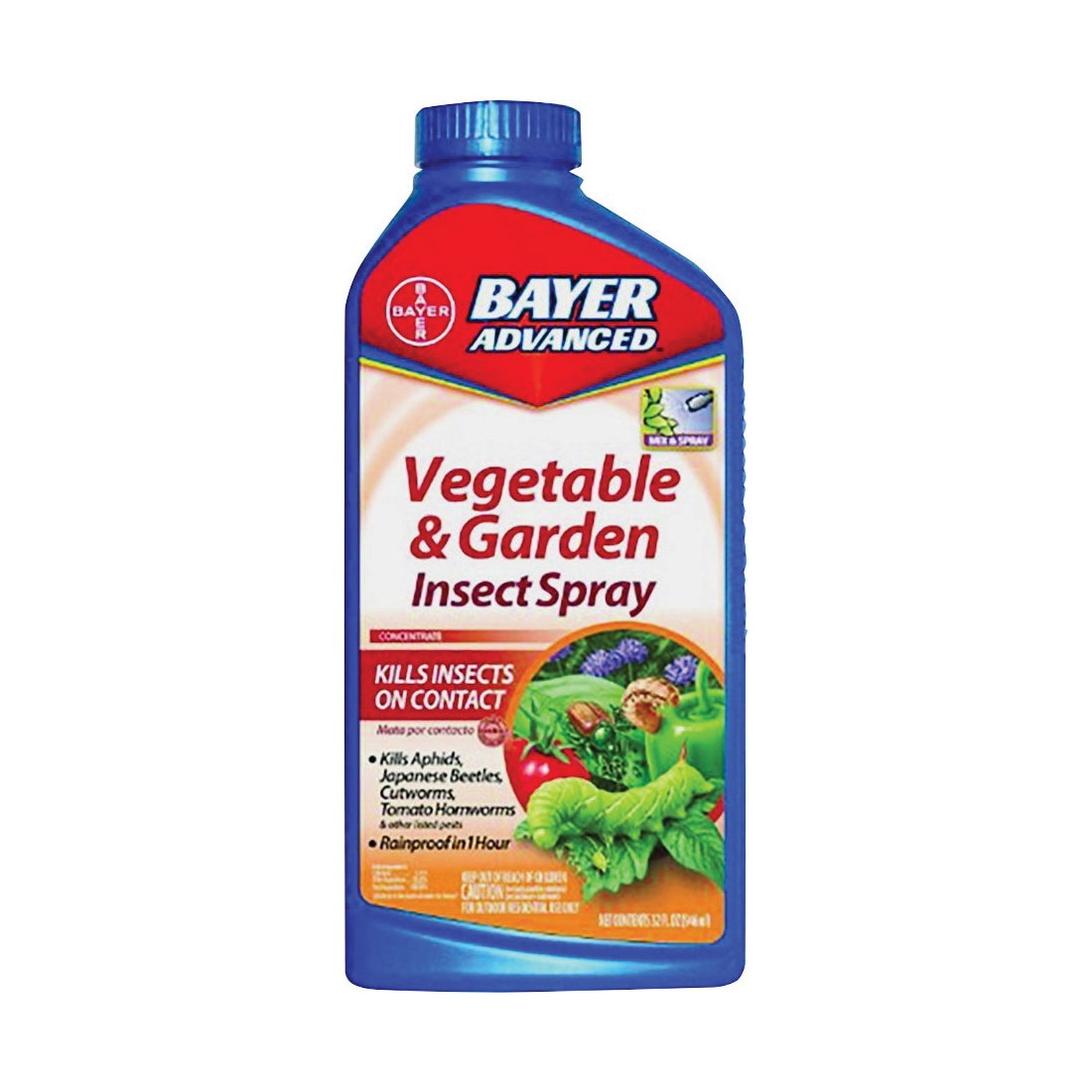 Picture of BioAdvanced 701521A Vegetable and Garden Insect Spray, Liquid, Spray Application, 32 oz Package, Bottle