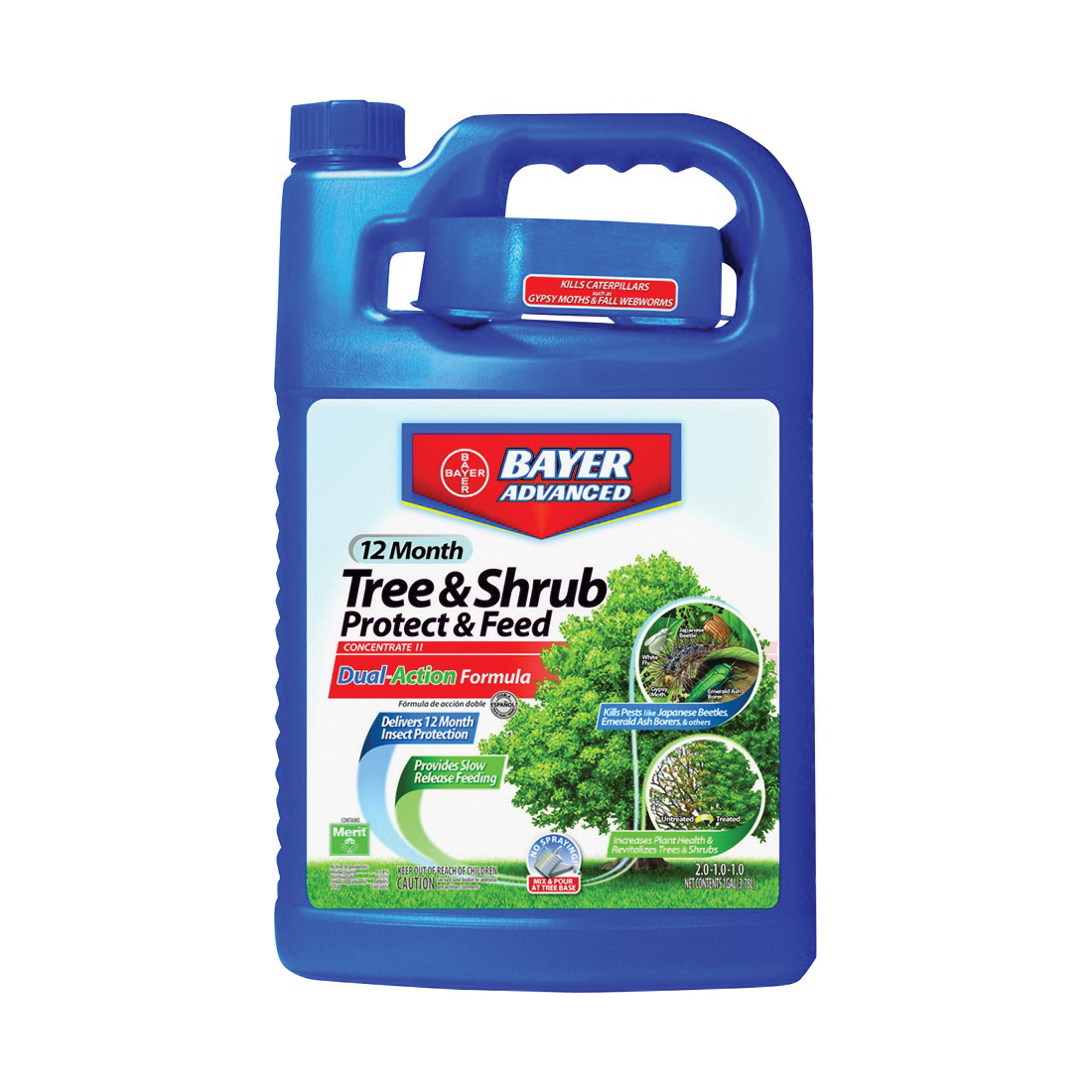 Picture of BioAdvanced 701615A Tree and Shrub Protect and Feed, Liquid, 1 gal Package, Can