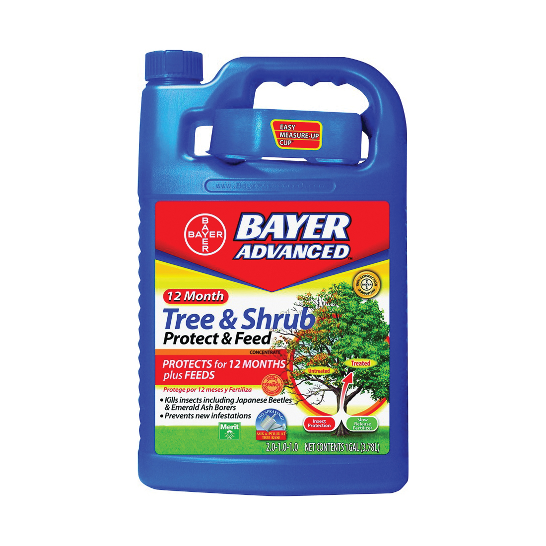 Picture of BioAdvanced 701915A Tree and Shrub Protect and Feed, Liquid, 1 gal Package