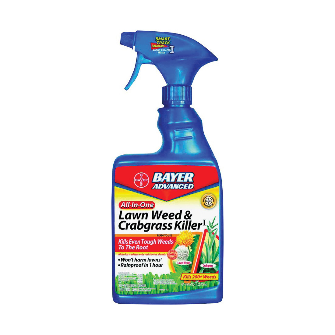 Picture of BioAdvanced 704125A Weed and Crabgrass Killer, Liquid, Black/Brown, 24 oz Package, Bottle