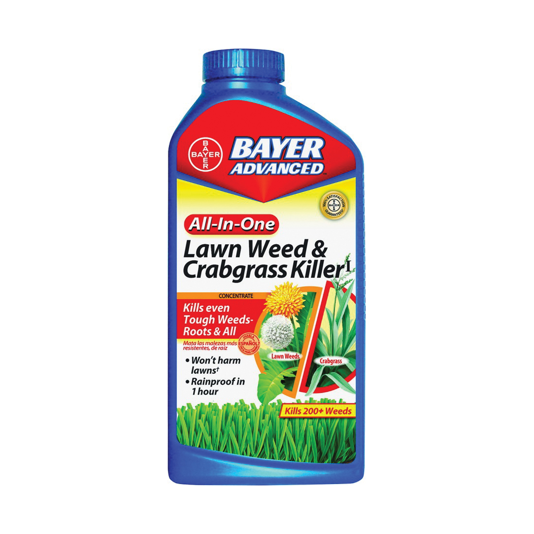 Picture of BioAdvanced 704140A Crabgrass and Weed Killer, Liquid, Black/Brown, 32 oz Package, Bottle