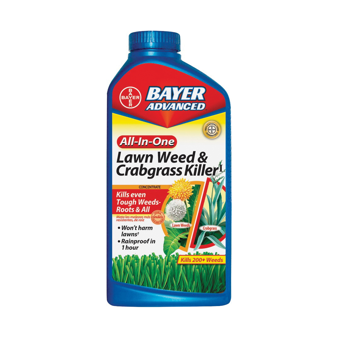 Picture of BioAdvanced 704140Q Crabgrass and Weed Killer, Liquid, Brown/Red, 32 oz Package, Bottle