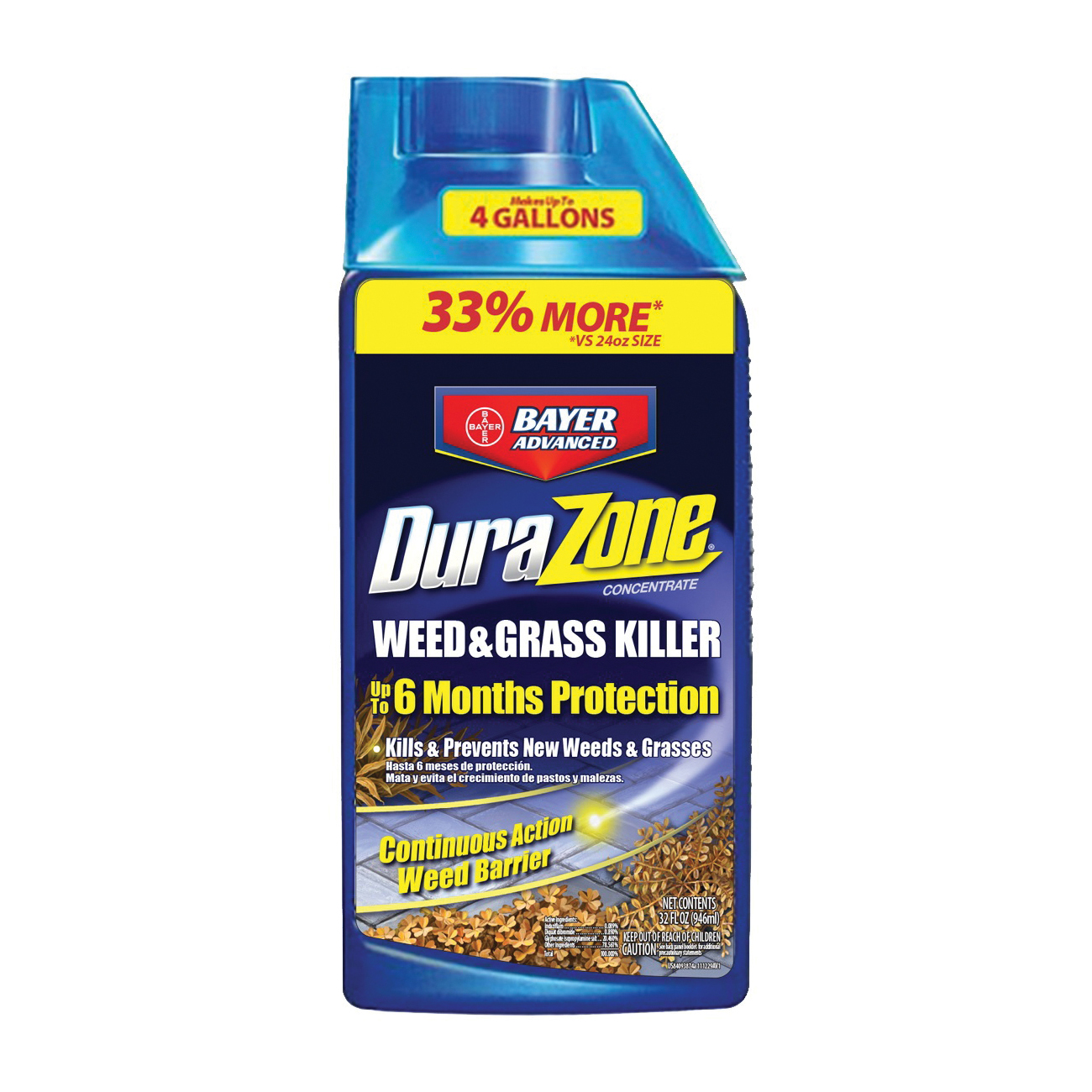Picture of BioAdvanced DuraZone 704330A Grass and Weed Killer, Liquid, Pink/White, 32 oz Package