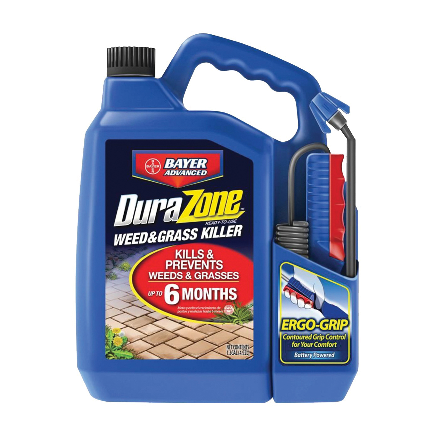 Picture of BioAdvanced DuraZone 704370A Weed and Grass Killer, Liquid, Light Beige/White, 1.3 gal Package, Bottle