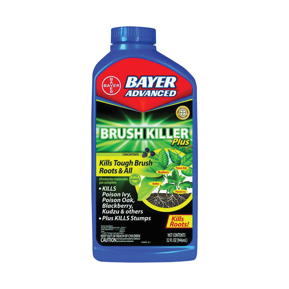 Picture of BioAdvanced 704640B Brush Killer, Liquid, Clear, 32 oz Package, Bottle