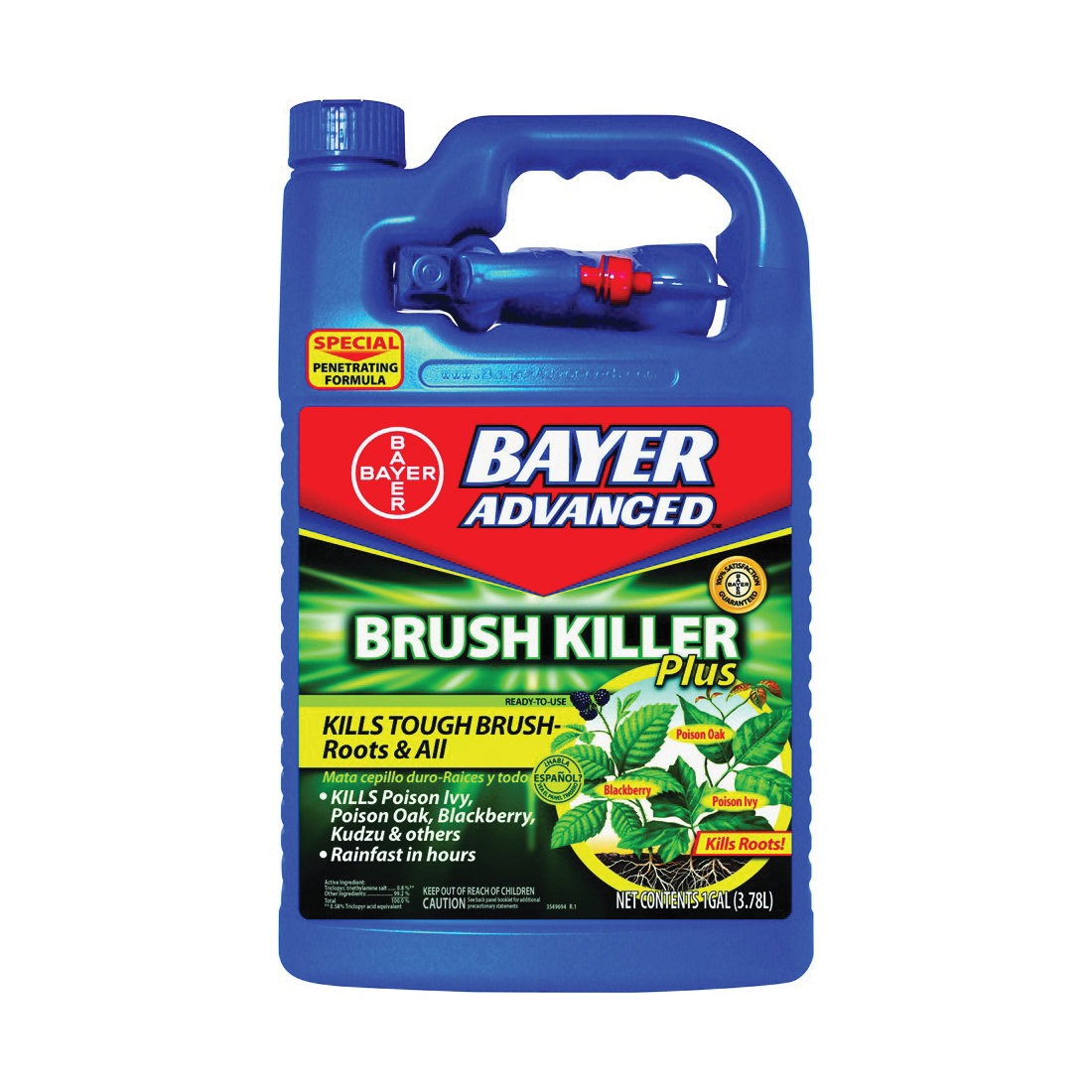 Picture of BioAdvanced 704655A Brush Killer, Liquid, Light Yellow, 1 gal Package, Bottle