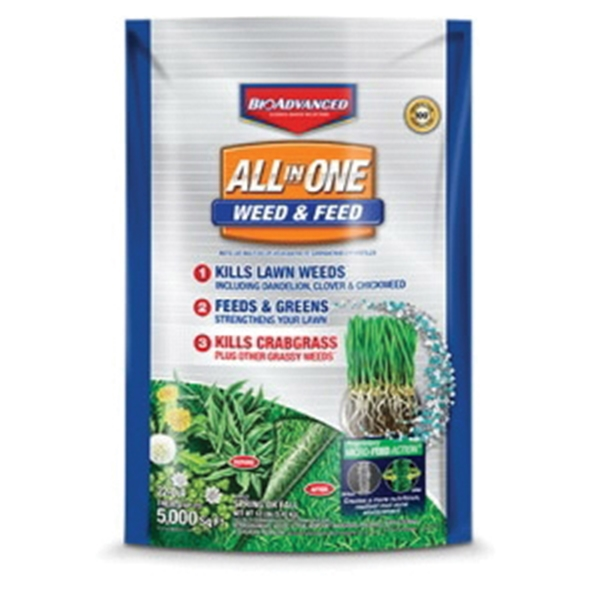Picture of BioAdvanced 704416S All-in-One Weed and Feed, Granular, 12 lb Package