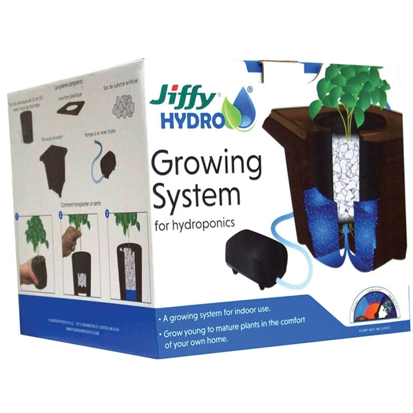 Picture of Jiffy JHGROW-6 Hydroponic Growing System, 1 -Plant, 4 qt Water