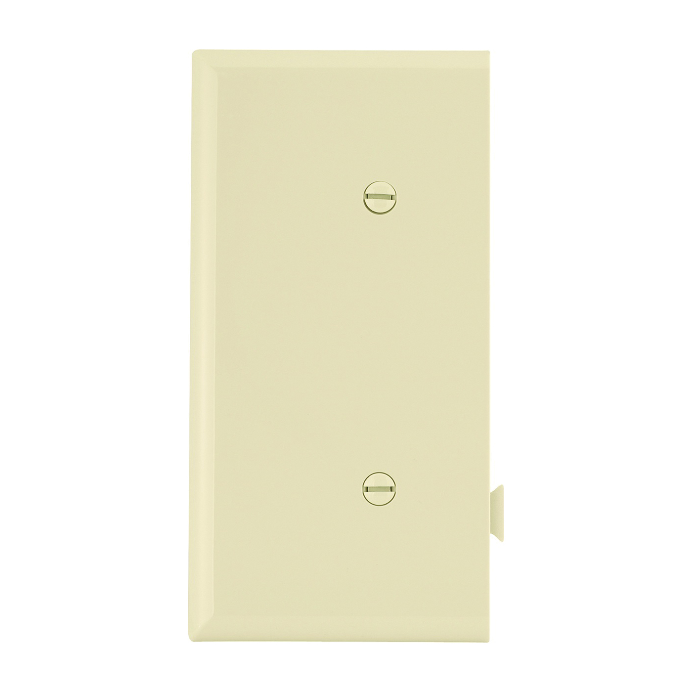 Picture of Eaton Cooper Wiring STE14V Wallplate, 2-9/16 in L, 4.84 in W, 1-Gang, Polycarbonate, Ivory, High-Gloss