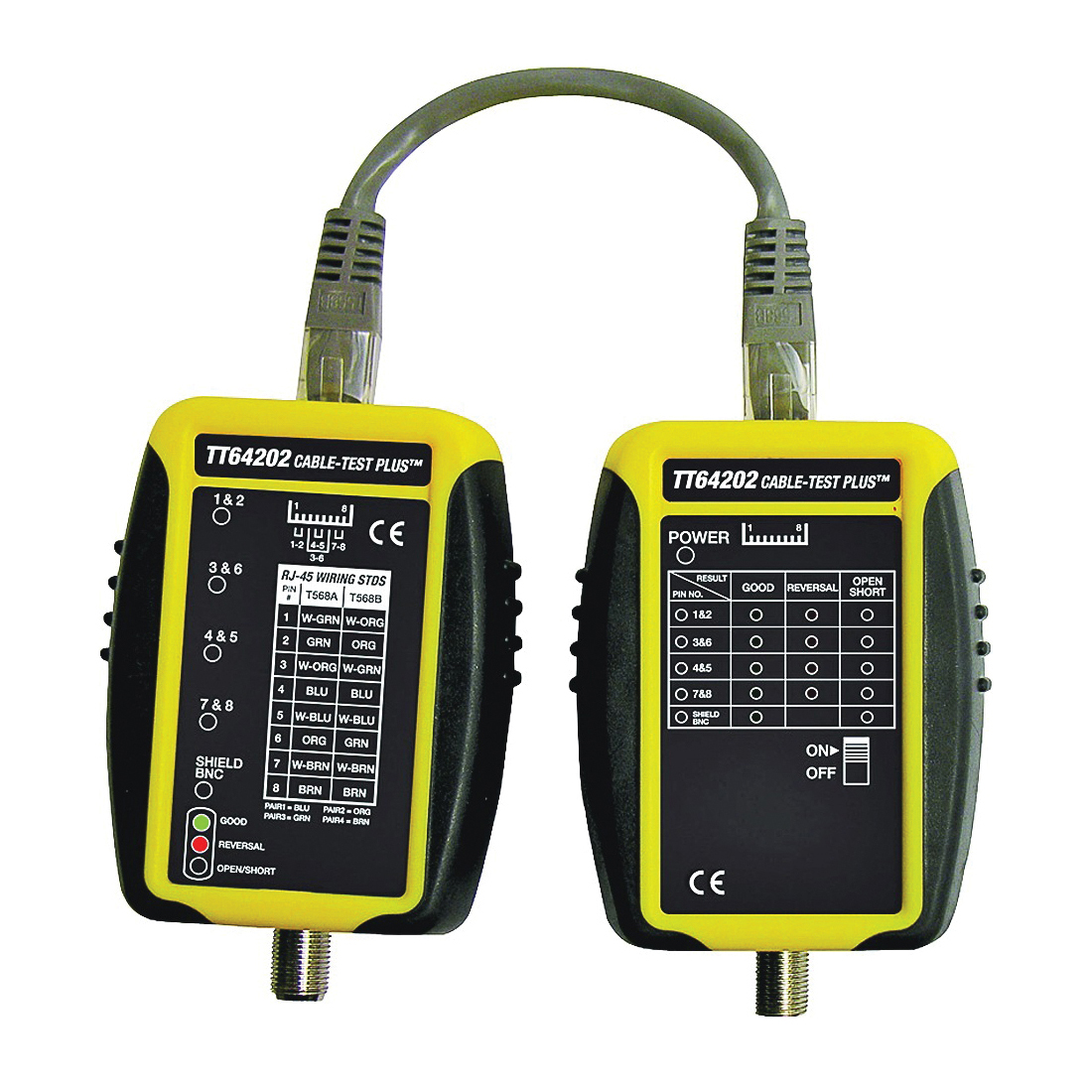 Picture of GB Cable-Test TT64202 Cable Tester, Black/Yellow