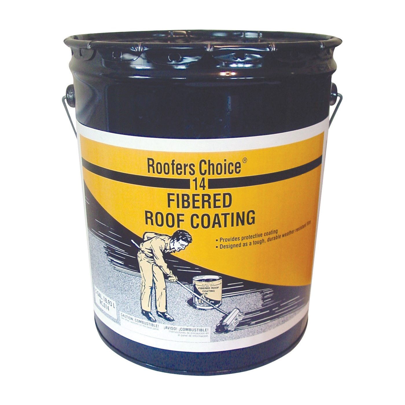 Picture of Henry Roofers Choice RC014070 Roof Coating, Black, 18.93 L, Pail, Liquid