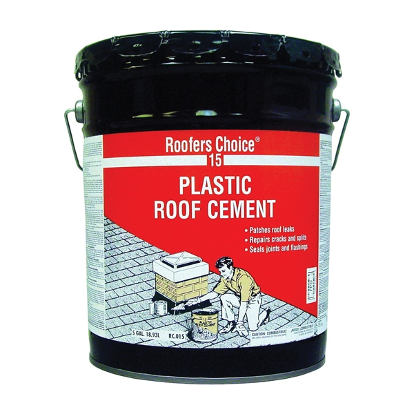 Picture of Henry Roofers Choice 15 Series RC015070 Roof Cement, Liquid, Paste, Petrol, Black, 5 gal Package, Pail